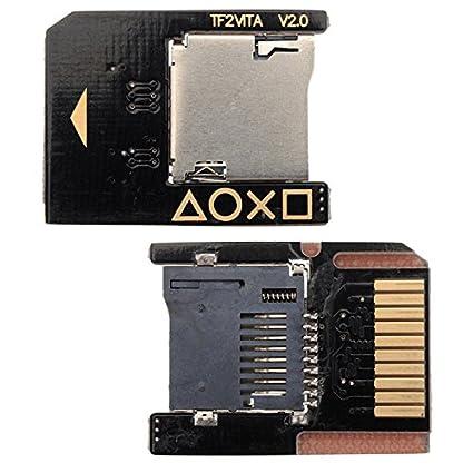 BisLinks® Nuevo OEM Micro SD Memoria Tarjeta SD2Vita Adaptador Socket para PS Vita 3.60 Henkaku