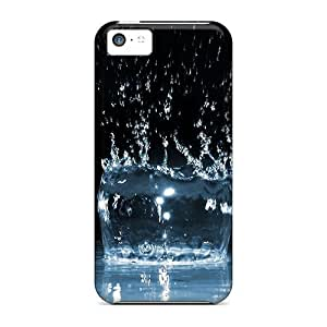 Hot Design Premium PDCRAJT5642YPMCf Tpu Case Cover Iphone 5c Protection Case(water Splash)