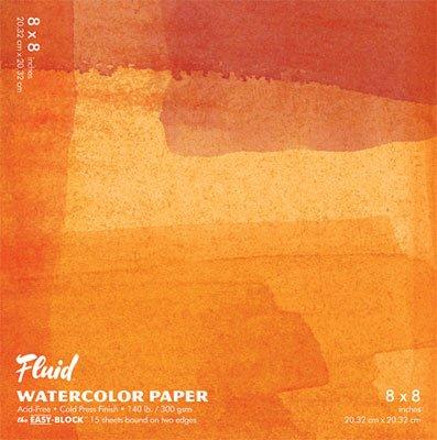 Fluid Easy Block Fluid Watercolor Blocks 8 in. x 8 in. - Block Watercolor
