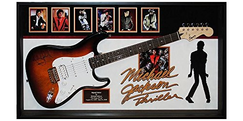Autographed Signed Framed (Michael Jackson Thriller Signed Guitar Custom Framed Autgraphed with)
