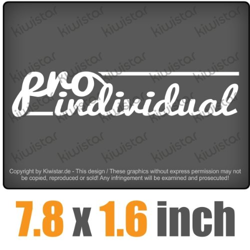 pro individual 7.8 x 1.6 inch JDM Decal Sticker Aufkleber Racing DUB Die Cut