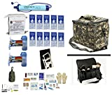1 Person Supply 5 Day Emergency Bug Out S.O.S. Food Rations, Purified Drinking Water, LifeStraw Personal Water Filter + Ultimate Arms Gear ACU Army Camo Bag + Survival First Aid Kit & Multi Tool Kit