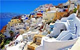 SANTORINI SKYLINE GLOSSY POSTER PICTURE PHOTO greek island aegean sea fira