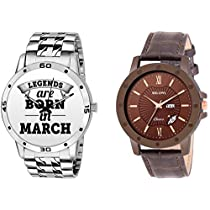 Bigowl Combo of 2 Analogue Wrist Watch for Men and Boys (Men