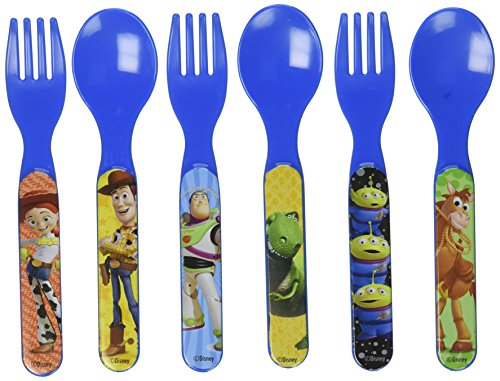 Toy Story Six Piece Fork & Spoon Set by Disney (Image #2)