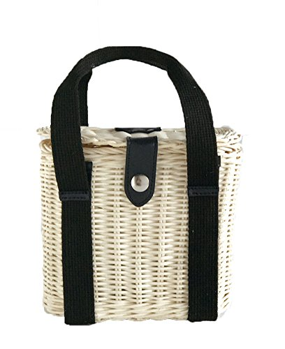 - Friday Light Rattan Woven Natural Handbag