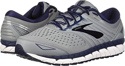 Brooks Men's Beast '18 Grey/Navy/White 10 D US (Mesh Suede Heels)