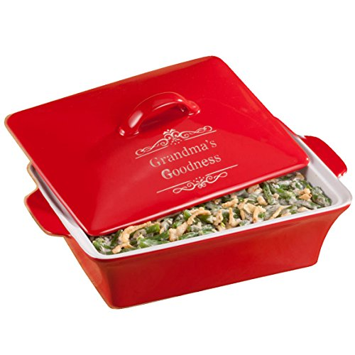 Personalized Red Lidded Rectangular Baking Dish