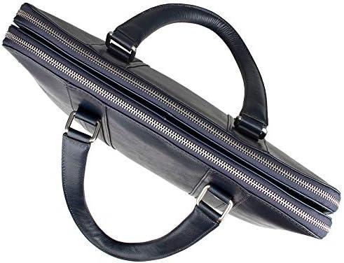 Sikungjlk-bag Men's Leather Briefcase Men's Vintage Tote Shoulder Messenger Bags Large Capacity Bags for Business Casual