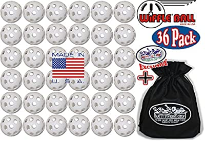 "Wiffle Plastic Practice Golf Balls 36 Pack with Exclusive ""Matty's Toy Stop"" Storage Bag"