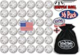 Wiffle Plastic Practice Golf Balls 36 Pack with Exclusive ''Matty's Toy Stop'' Storage Bag