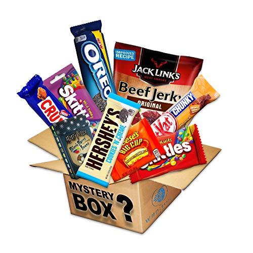 MISTERY BOX PACK DE SNACK AMERICAN SALATO Y/O DULCES PARA IDEA DE REGALO VINTAGE CARTON BOX: Amazon.es: Alimentación y bebidas