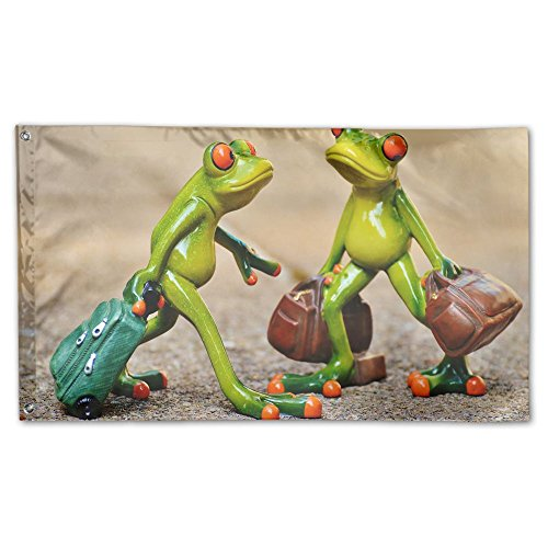 Colby Keats Frogs Funny Travel Luggage Garden Lawn Flags Ind