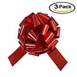 3 Pack 18'' Red Giant Car Bow