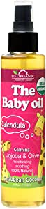 US Organic Baby Oil with Calendula, Smooth Caribbean Coconut,Certified Organic by USDA,Jojoba & Olive Oil with Vitamin E, No Alcohol,Paraben, Artificial Detergents, Color,Synthetic Perfumes,5 fl. oz.