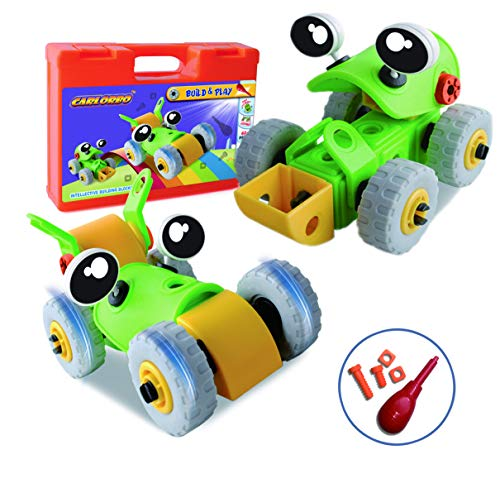 CARLORBO Take Apart Toy Car,2 Model Building Kit STEM Toys 42 Pieces Assembly Car Toys for Kids