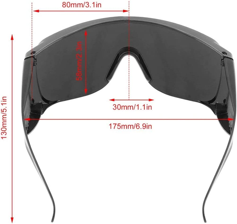 Schutzbrille Staubschutzbrille Schwei/ßschutzbrille Opt//E Light//IPL//Photon Beauty Instrument Rote Laserschutzbrille Farbe: schwarz