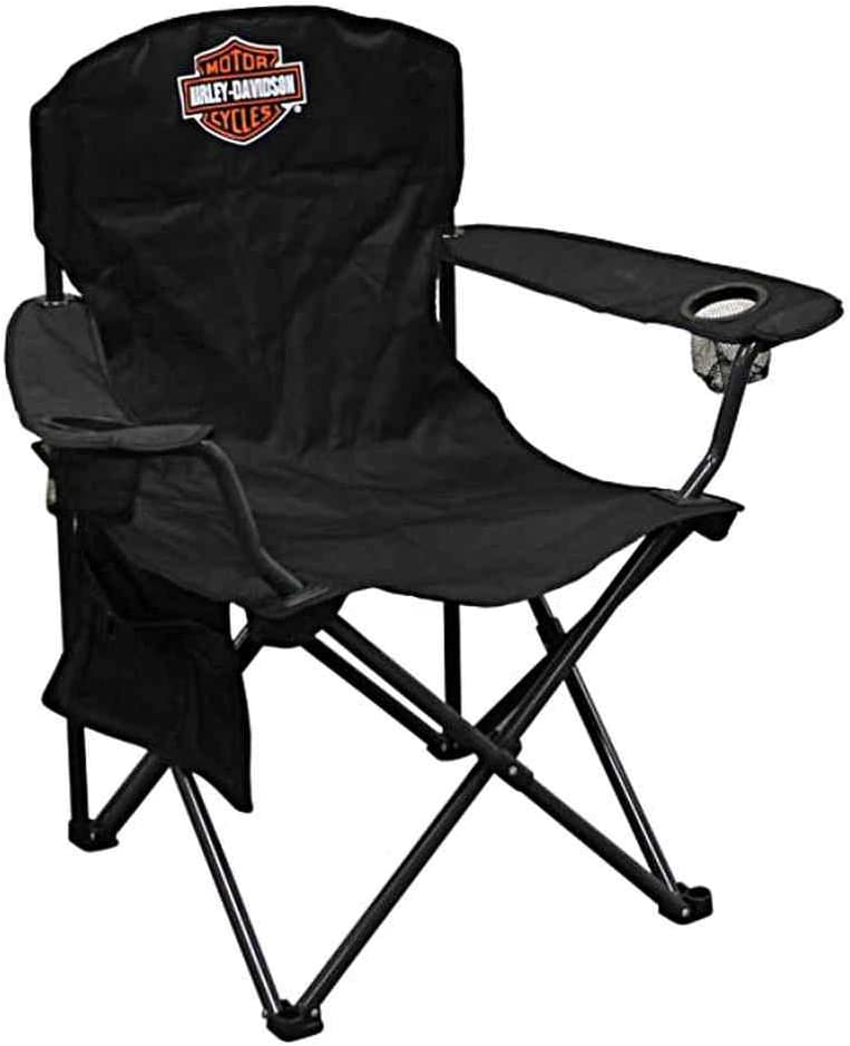 HARLEY-DAVIDSON Compact Bar Shield XL Chair w Drink Holder Carry Bag CH30264