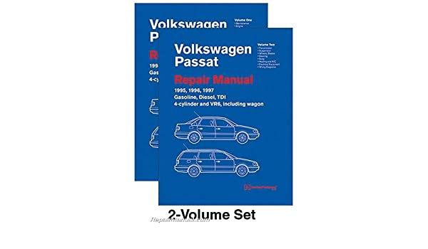 VP97 Volkswagen Passat (B4) Repair Manual 1995 1996 1997 Gasoline Turbo Diesel TDI 4-cylinder VR6 Wagon: Manufacturer: Amazon.com: Books