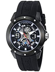 Stuhrling Original Men's 266.3356 Leisure Crucible Analog Display Automatic Self Wind Black Watch