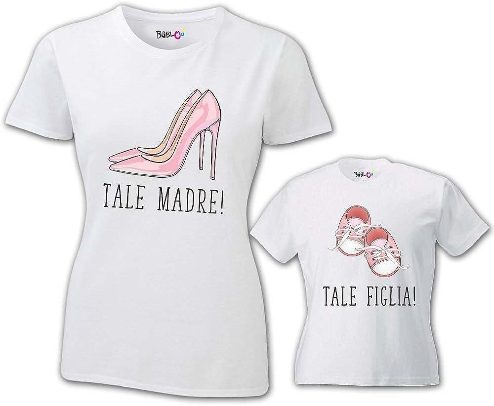 Coppia di T Shirt Mamma Bambino Festa della Mamma Tale Madre Tale Figlia