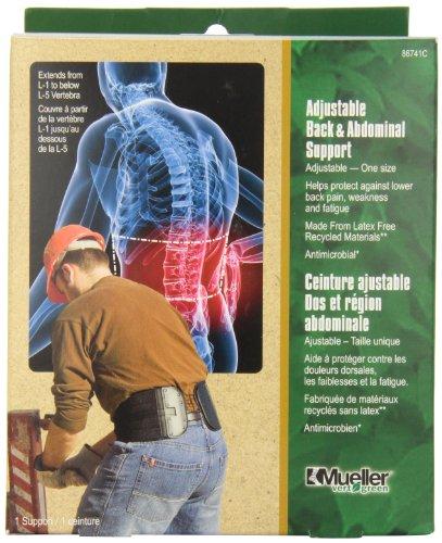 Mueller abdominale Support Retour réglable, Noir, Taille