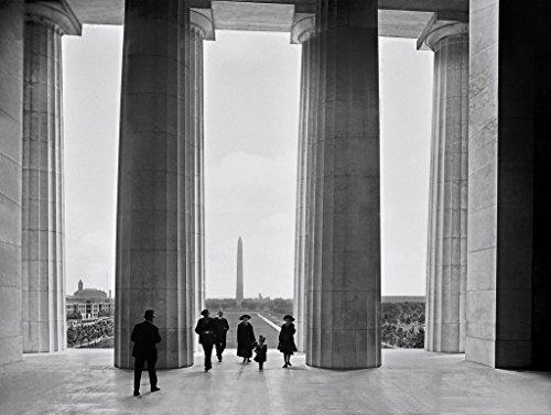 Washington D.C. Historic Black & White Photo, Vista of Monument from Lincoln Memorial, c1922, (Lincoln Memorial Photo)
