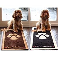 Pet Rebellion Stop Muddy Paws Dog Rug - 45 x 100cm (Choose From A Range Of Colours)