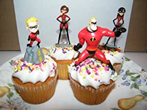 Amazon Com Disney Pixar The Incredibles Cake Toppers