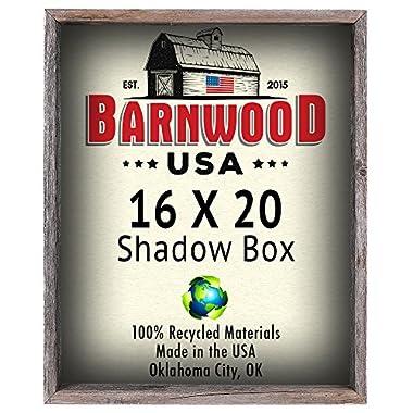BarnwoodUSA 16x20 Shadow Box Frames - Rustic Reclaimed Wood