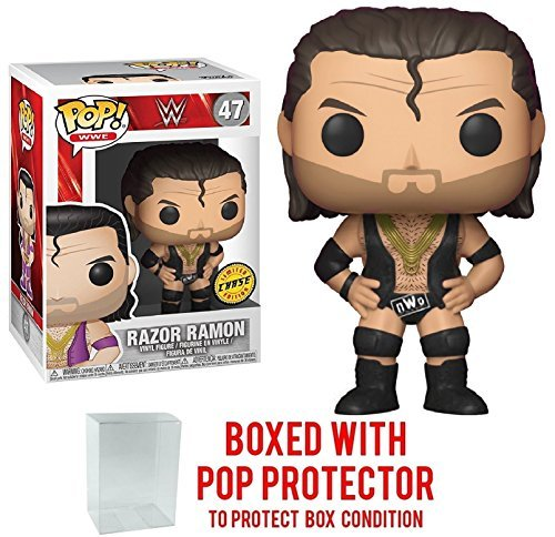 Funko Pop! WWE Razor Ramon CHASE Limited Edition Vinyl Figure (Bundled with Pop BOX PROTECTOR CASE) by Funko