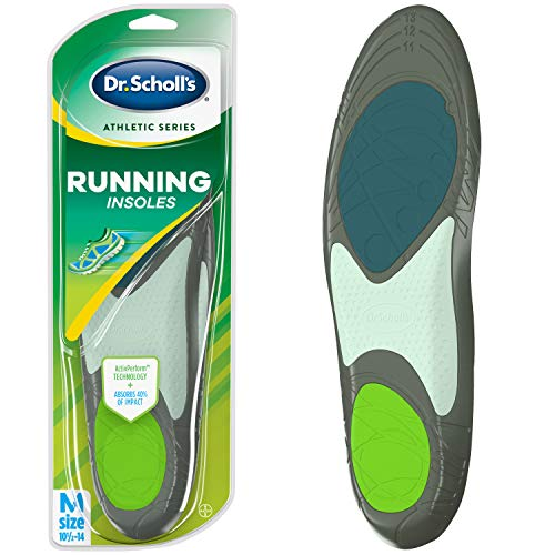 Dr. Scholl's RUNNING Insoles // Reduce Shock and Prevent Common Running Injuries: Runner's Knee, Plantar Fasciitis and Shin Splints (for Men's 10.5-14, also available for Men's 7.5-10 & Women's 5.5-9) from Dr. Scholl's