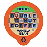 kcups coffee bean - Double Donut Decaf Flavored Coffee, in Recyclable Single Serve Cups for Keurig K-Cup Brewers, 80 Count (Decaf Vanilla Bean)