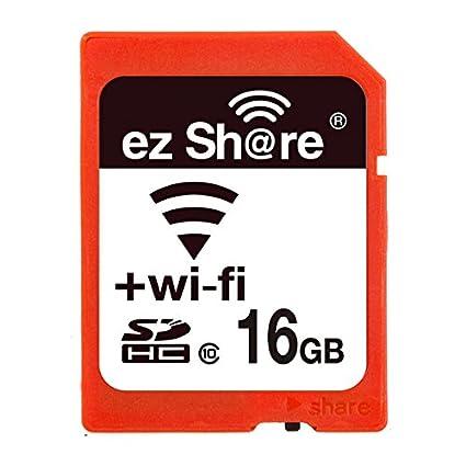 Ez Share - Tarjeta de Memoria SD para Cámara WiFi (32 G, Sdhc, Sdxc, 4G, 8G, 16G, C10) 16 GB