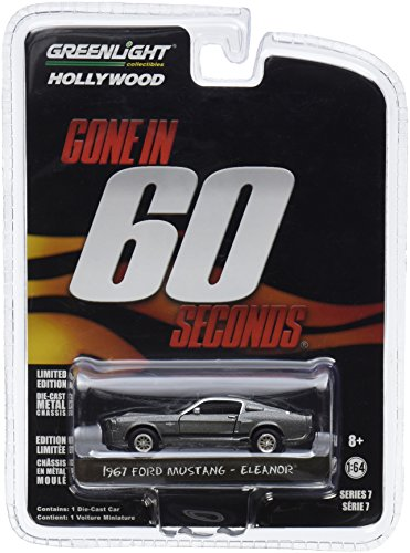 "Greenlight 44742 Gone in 60 Sixty Seconds (2000) ""Eleanor"" 1967 Ford Mustang Shelby GT500 1/64 Scale ()"