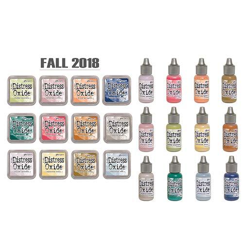 Ranger Tim Holtz Distress Oxide Ink Fall 2018-12 Ink Pad and Reinker Bundle