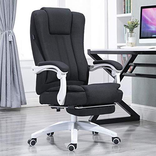 Barstolar Xiuyun Executive kontorsstol, hemmakontor stol vegan stoppad verkställande konferens snygg design justerbar mellanrygg ergonomisk skrivbordsstol