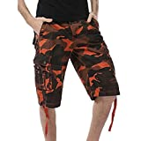 iZHH Men's Casual Camouflage Pocket Beach Work Short Trouser Cargo Shorts Pant