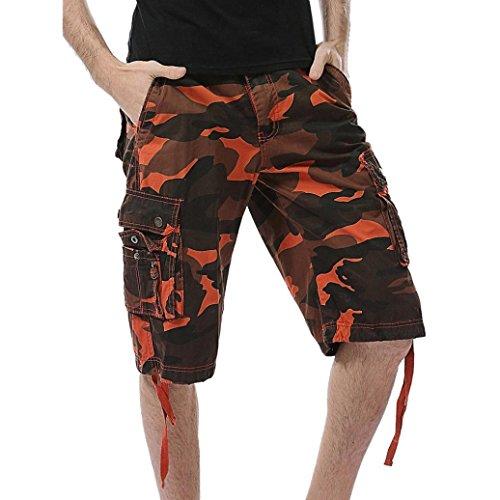 iZHH Men's Casual Camouflage Pocket Beach Work Short Trouser Cargo Shorts Pant by iZHH