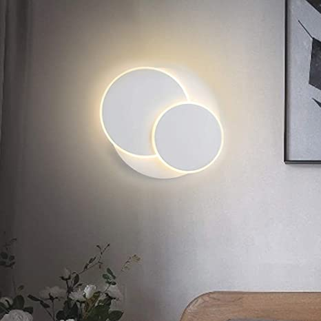 ZMH Applique a LED all\'interno, 12W lampade da parete led moderna, 350°  girevole applique bianco, applique camera da letto 3000K Bianco caldo per  ...