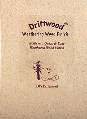 DRIFTWOOD WEATHERING WOOD FINISH - Creates a natural Driftwood Weathered Wood Finish on unfinished wood in minutes