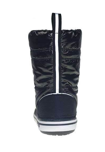 060fd298a Crocs Kids Iridescent Crocband Gust Boot Black White