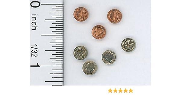 Dollhouse Miniatures  Money Dollar Bills 1/'s 5/'s 20/'s 100/'s  1:12 10/'s