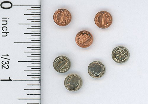 Dollhouse Miniature Coin Set -
