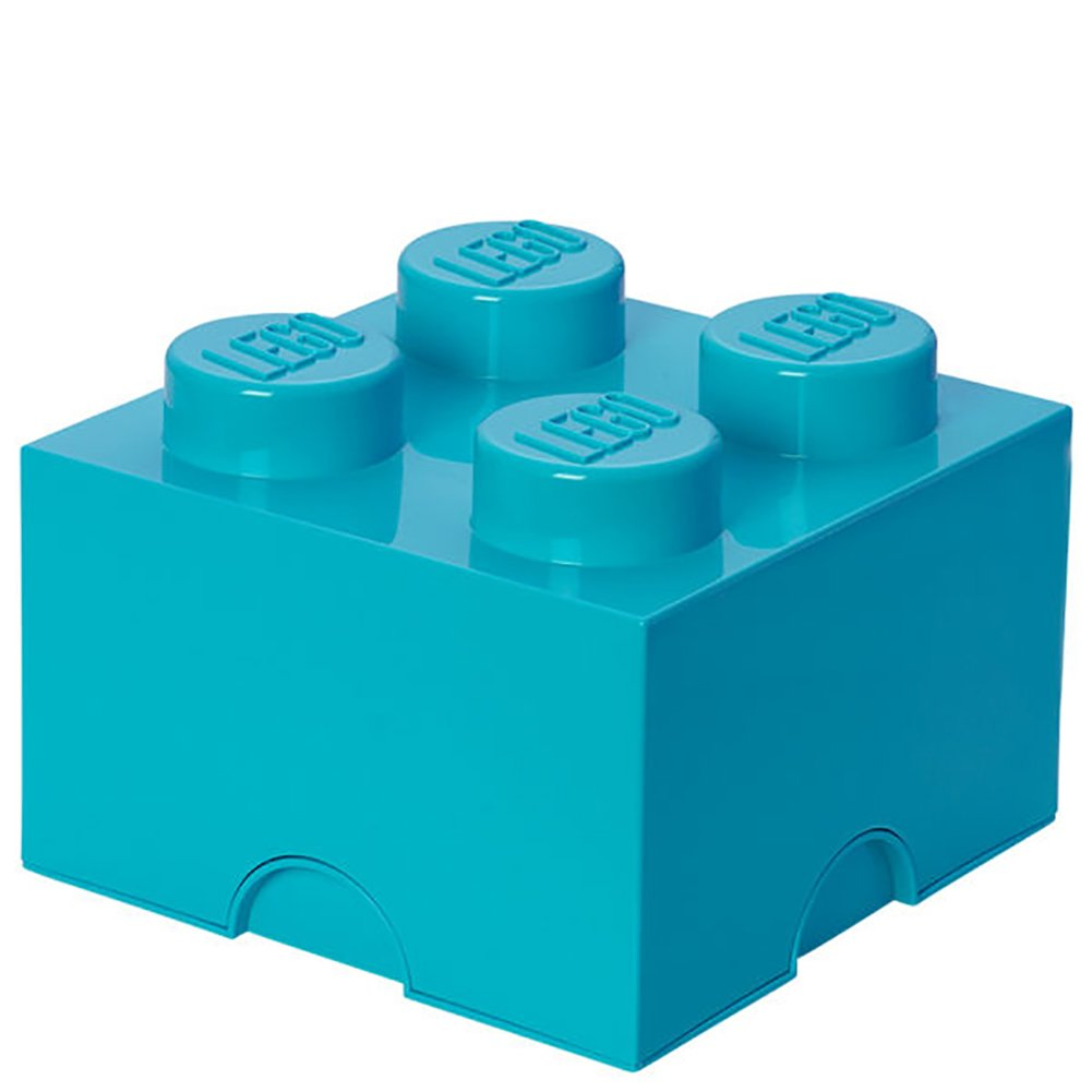 LEGO Medium Azur Blue Storage Brick 4 Children's Toy Box