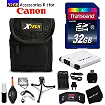 32GB Accessory Kit for Canon PowerShot ELPH 360 HS, ELPH 350 HS, Elph 190 IS, ELPH 180 IS, ELPH 170 ELPH 160 includes 32GB High-Speed Memory Card + NB-11L Battery + AC/DC Charger + Fitted Case + Kit