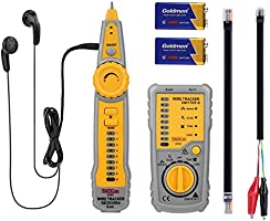 Tacklife Wire Tracker RJ11 RJ45 Line Finder Cable Tester for Network Cable Collation, Telephone Line Test, Continuity Checking, Low Battery Capacity Indication   CT01