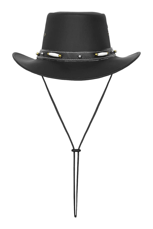 Australian Style Leather Western Hat Cowboy Hat with Bone