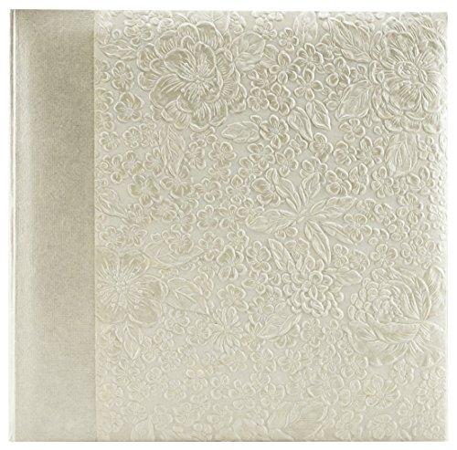- MBI 4x6 Inch Embossed Gardenia Pearl Photo Album, 200 Capacity (873032)