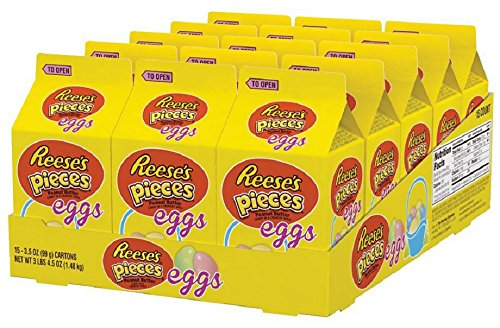 Reese's Pieces Easter Peanut Butter Pastel Eggs, 3.5-Ounce C